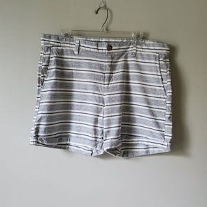GAP | Blue & White Striped Girlfriend Shorts | 14